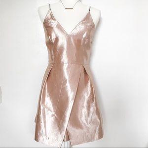 Topshop Metallic Pink Strappy Mini Dress Size 6